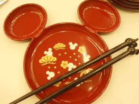 ディズニーおせちに!ミッキー型の取り皿5枚&お箸5膳セット