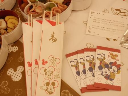 ディズニーおせち 三段重 祝い箸&ポチ袋