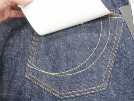銅丹LABEL バックポケット刺繍