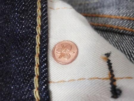 家紋柄のポケットスレーキ 桃太郎ジーンズ